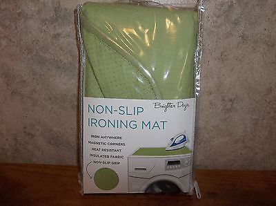 Brighter Days Light Green Non-Slip Ironing Mat, New