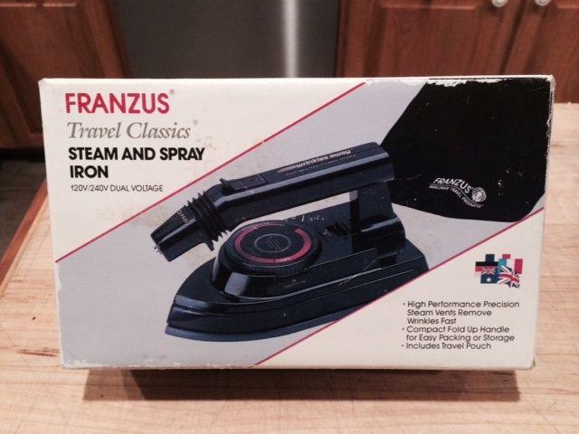 FRANZUS TRAVEL Fold-up Steam and Spray Iron w Original Box