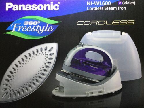 Panasonic 360 Freestyle Cordless Steam Iron NI-WL600 Silver Blue Violet