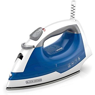 Electric Steam Iron Nonstick Spray Smart Temp Soleplate Laundry Clothes