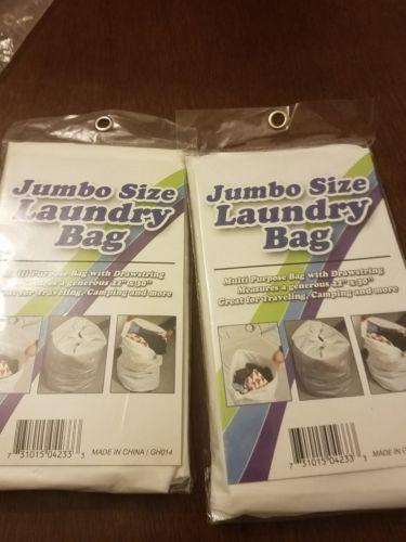 lot 2 jumbo size laundry bag 22×30
