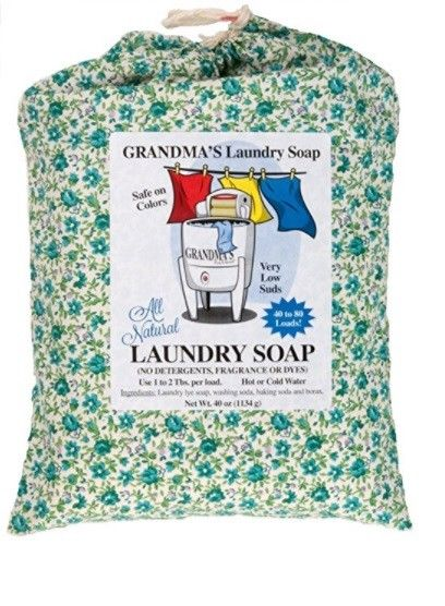 Grandma's All Natural Laundry Soap, 40 Ounces, White, Unscented (#70012)