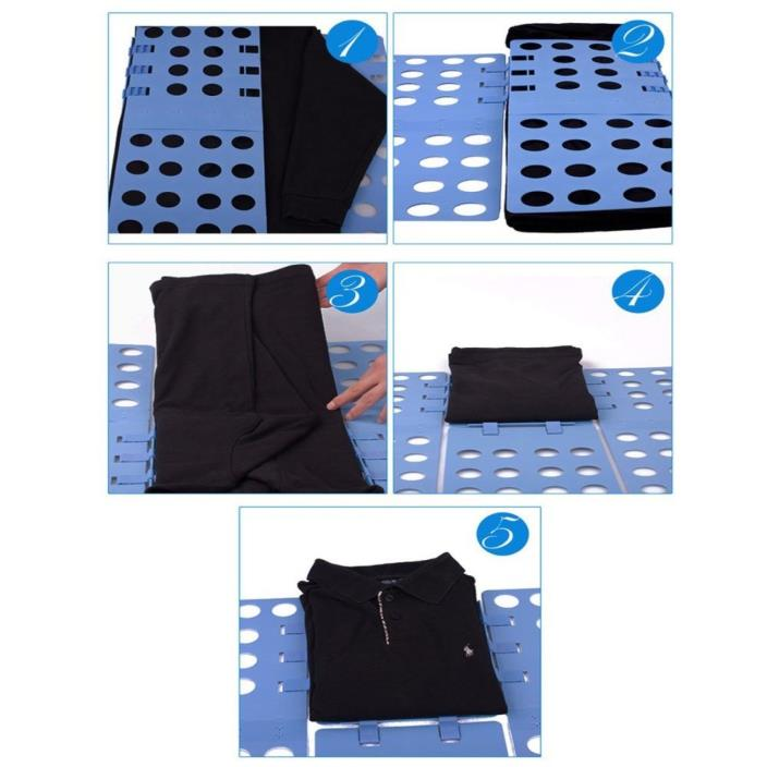 Shirt Folding Board Clothes Folder Easy And Fast Plastic Laundry Fold For Adult