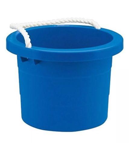 Rope Handle Bucket (2.5 gal) - Blue, Car Wash Bucket Beach Summer Free Shipping