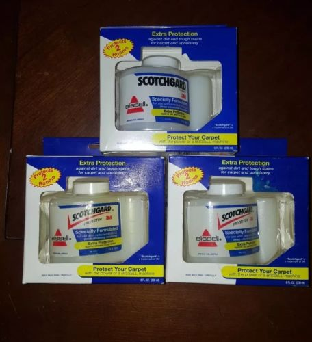 Lot of 3 NEW BISSELL Scotchgard Protector 3M 8 oz Upholstery & Carpet Protector