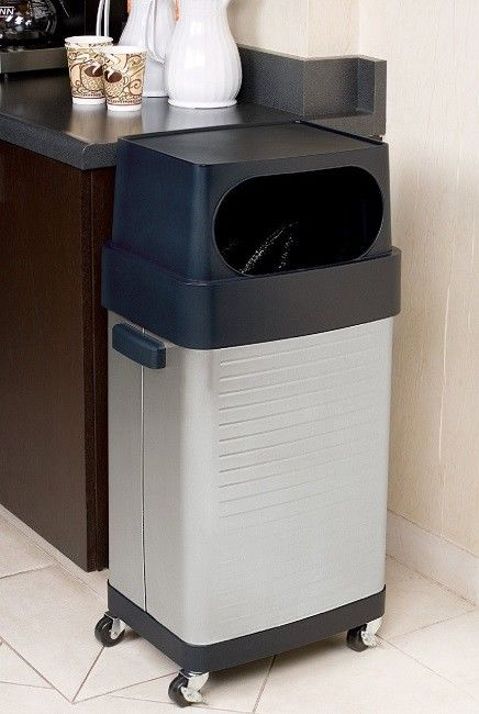 Commercial 17 Gallon Trash Can Stainless Steel Restaraunt Kitchen Garbage Bin