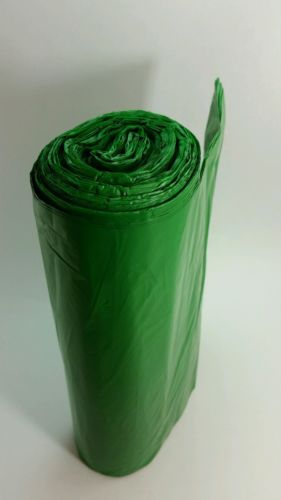 Commercial Can Liners Perforated Roll green , bottle recycling 45 gallon 6 rolls