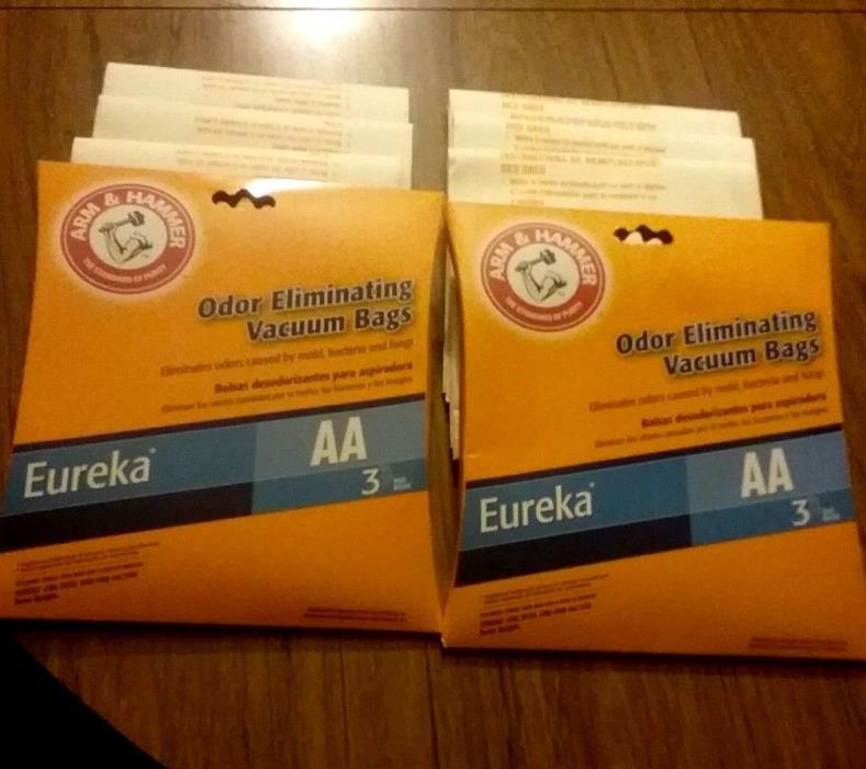 Eureka Arm & Hammer Vacuum Bags AA: 4100, S4170, 4300-4600, 5180 Uprights 2 pks