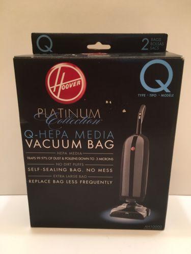 Hoover AH10000 Platinum Type-Q HEPA Media Self Sealing Vacuum Bag, Lot 1 count