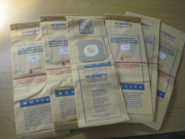 6 GENUINE KIRBY Bags MICRON MAGIC HEPA FILTRATION BAGS