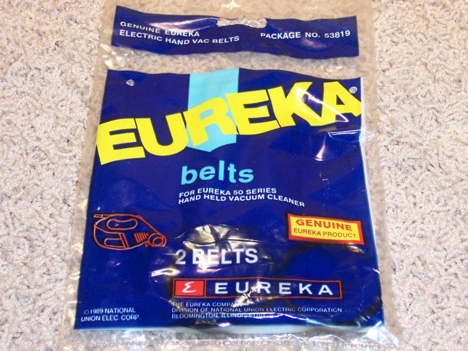 Eureka 53819 Belts (1 Pack of 2) Genuine NOS FREE SHIPPING