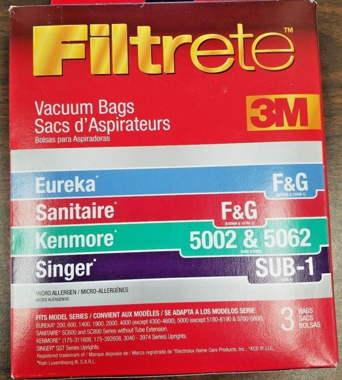 3M Filtrete Eureka Kenmore Style F&G Upright Vacuum Cleaner Bags 2 Pk