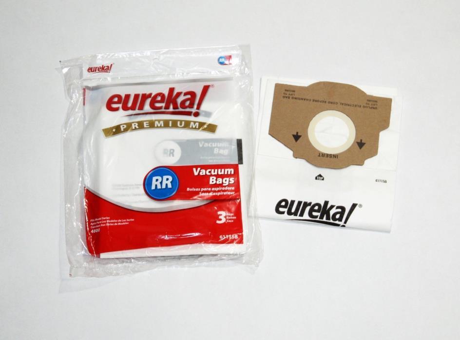 EUREKA Premium RR Vacuum Cleaner Bags, Part #61115B, pkg of 3 + 1, NEW!!