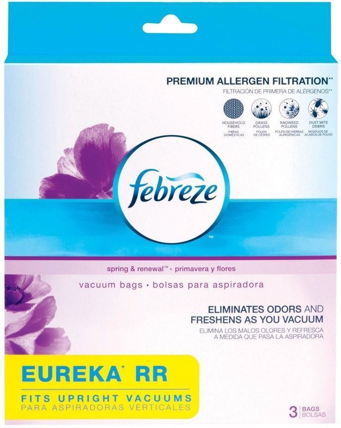 Febreze Vacuum Bags EUREKA RR Style 3-bags Spring & Renewal Scent NEW & SEALED