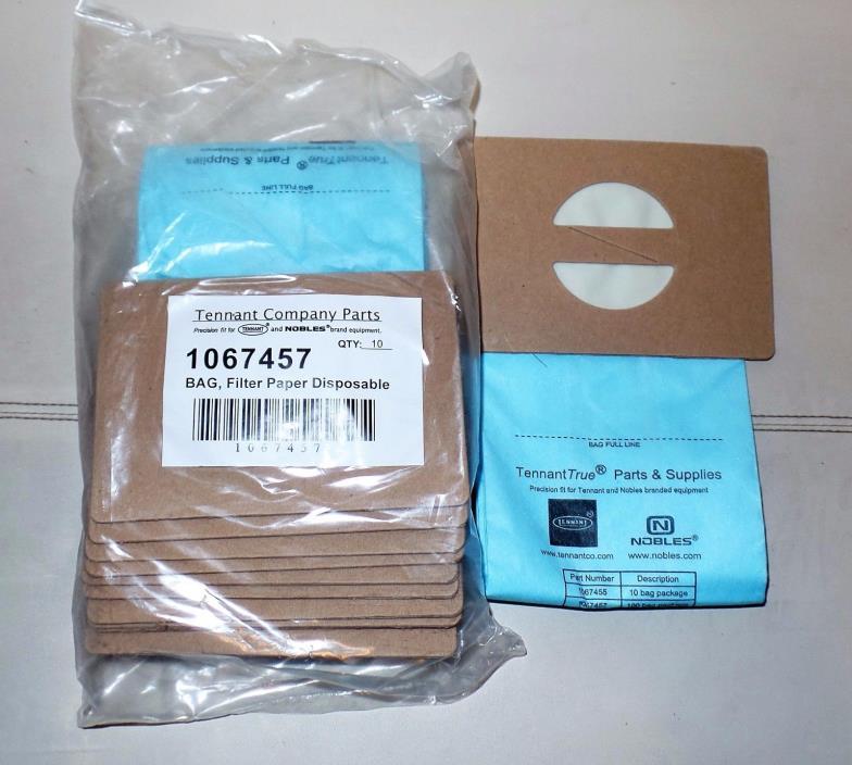 Nobles Vacuum bags (pkg of 10) Tennant Company Parts 1067457 Filter Paper