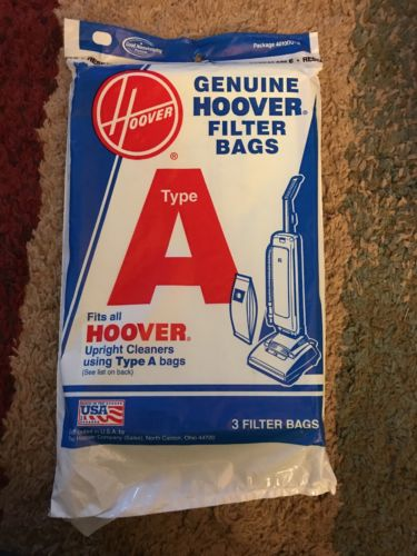 New Hoover Filter Bags - Type A - QTY of 3