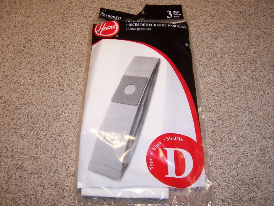 Hoover Type D Vacuum Bags Genuine (1 Pack of 3) 43655060 FREE SHIPPING