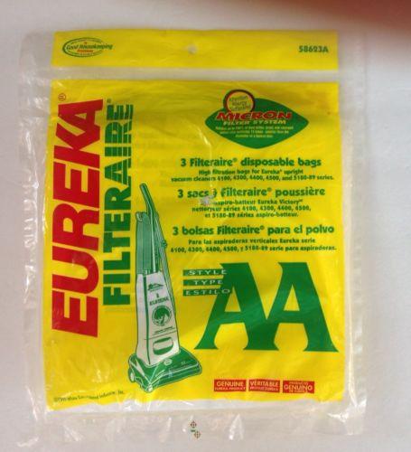 3 EUREKA FILTERAIRE TYPE AA VACUUM CLEANER BAGS
