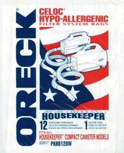 12 Genuine Oreck Buster B vacuum Bags PKBB12DW