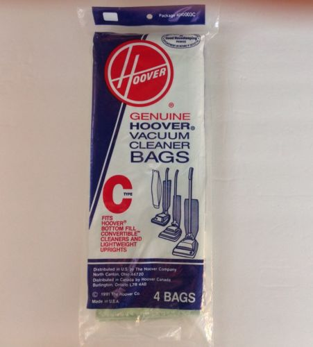 Hoover Type C Vacuum Bags, 3 Bags, Genuine Filter Bags Upright Vacuum