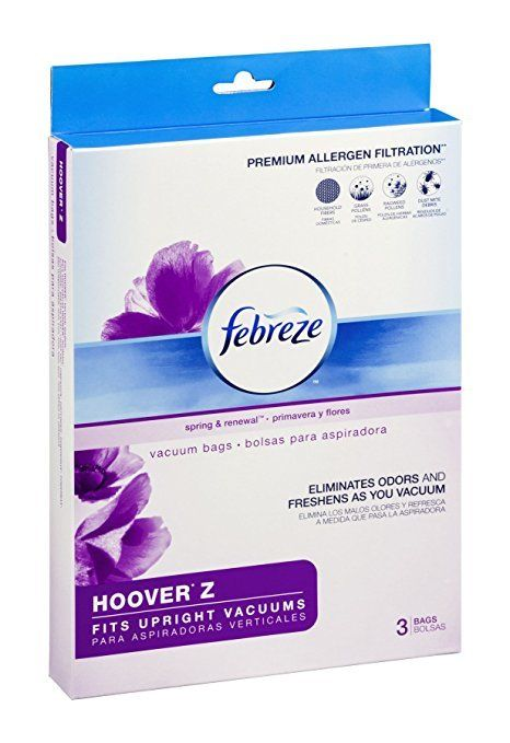 Febreze Vacuum Bags HOOVER Z Style 3-bags Spring & Renewal Scent NEW & SEALED