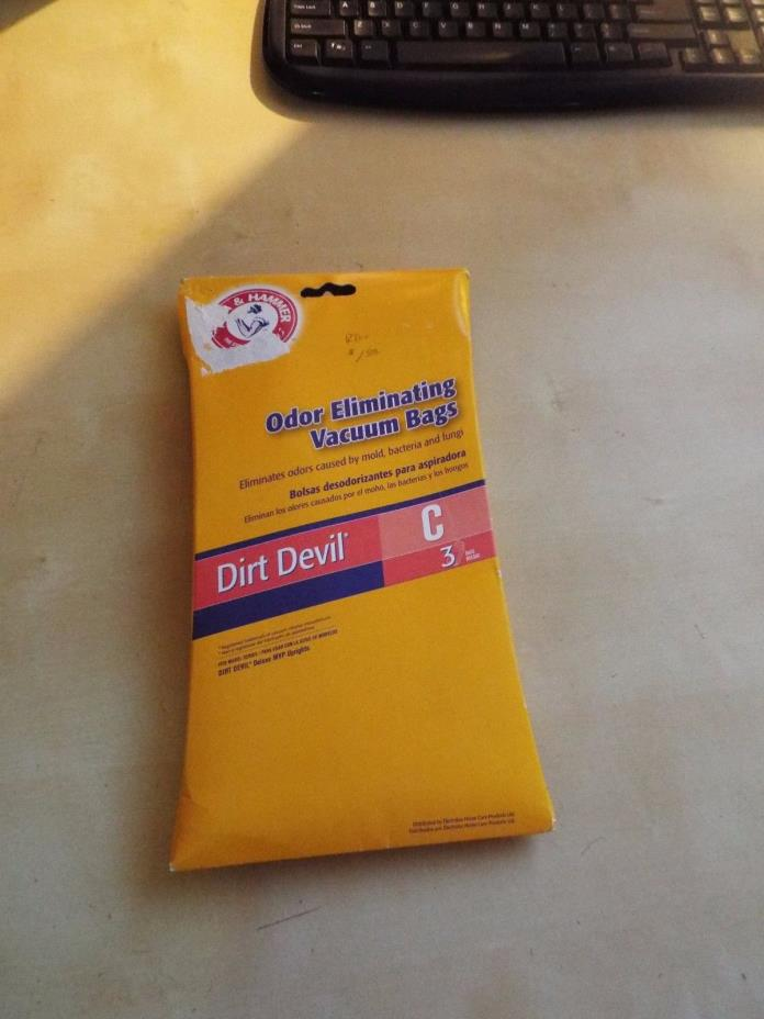 (3) Arm & Hammer Dirt Devil C vacuum cleaner bags - new