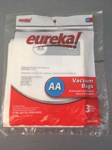 Eureka AA Vacuum Bags 3 Pack Fits 4100, S4170, 4300-4600, 5180  New