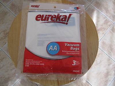GENUINE Eureka AA Vacuum Bags; Fits  4100, S4170, 4300-4600, 5180 - New