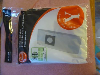 NEW HOOVER Y Vacuum Cleaner Bags  Allergen Filtration  3  BAGS GENUINE