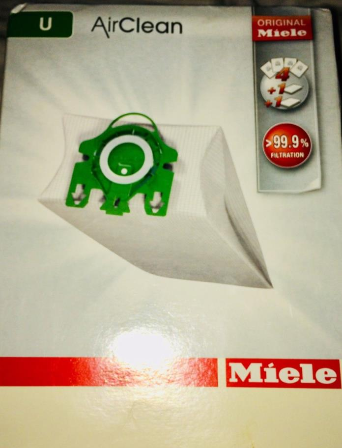 Miele U Vacuum Cleaner Air Clean Bags 3 Bags 2 Filters Green Collar Original