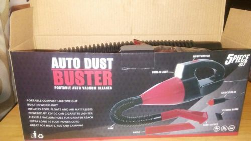 Auto Dust Buster Portable Auto vacuum cleaner