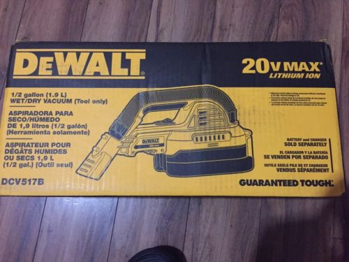 Brand New DeWALT DCV517B 20-Volt 1/2-Gallon Portable Cordless Vacuum - Tool Only