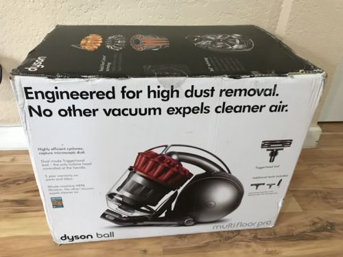 Dyson DC39 Ball Multifloor Pro Canister Vacuum Red And Grey