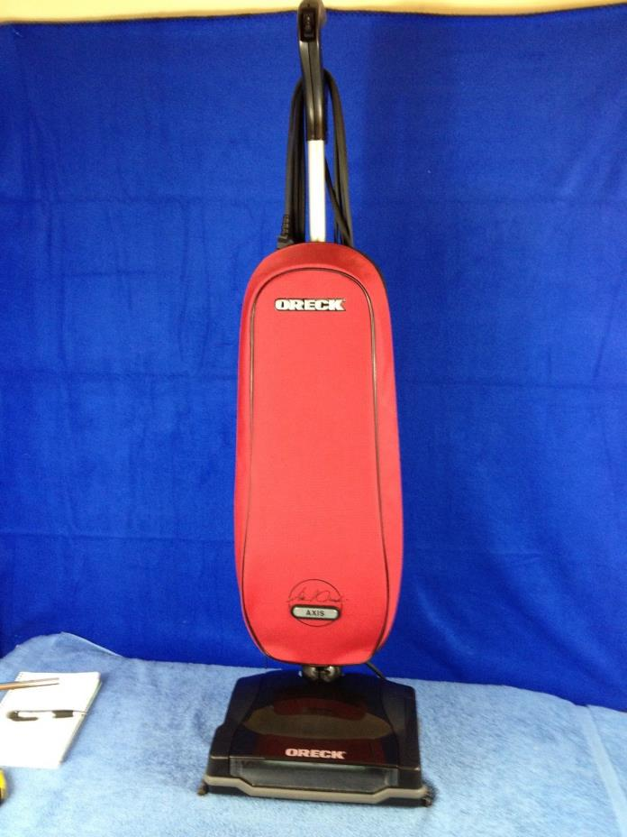 Oreck XL Upright 2 Speed Vacuum Cleaner Axis Red U7211