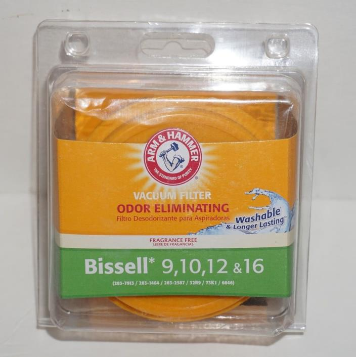 Arm & Hammer Replacement Vacuum Filter Bissell 9, 10, 12, & 15 Odor Eliinating