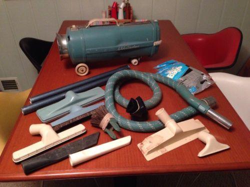Vintage Electrolux Canister Vacuum Cleaner w/ Hose (NO CORD) READ DESCRIPTION