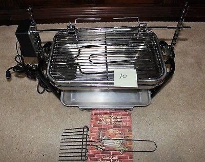 Farberware 455N R O Rotisserie Grill Open Hearth Broiler Smokeless Indoor