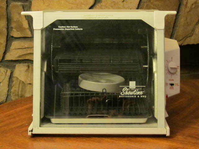 Ronco Showtime Rotisserie Oven Model 4000  White  ST4000