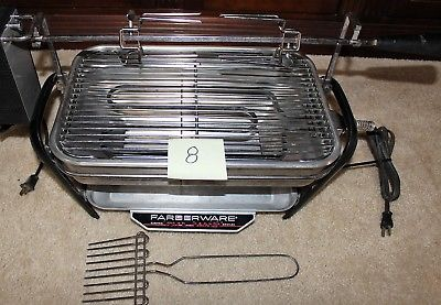 Farberware 450A Rotisserie Grill Open Hearth Broiler Smokeless Indoor grilll