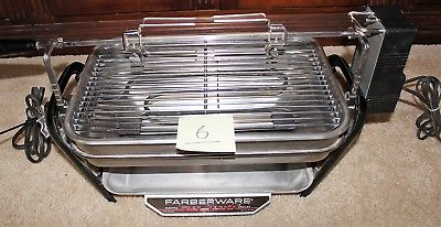 Farberware 450A Rotisserie Grill Open Hearth Broiler Smokeless Indoor great SP