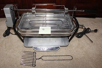 Farberware 450A Rotisserie Grill Open Hearth Broiler Smokeless Indoor complete