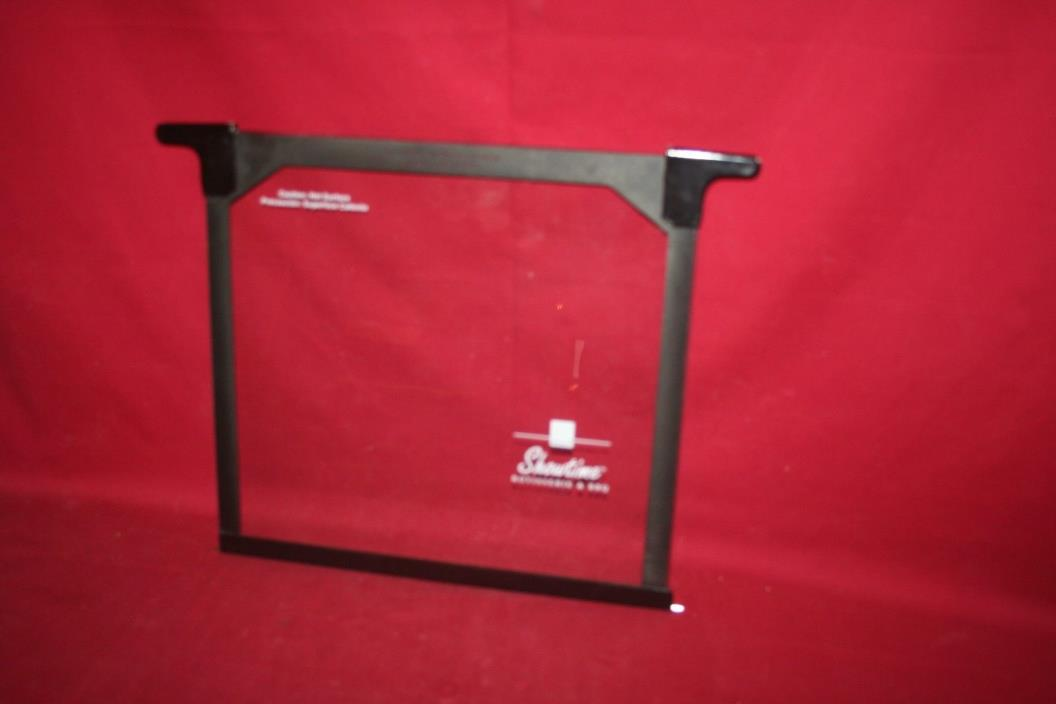 Ronco Showtime Rotisserie Glass Door BBQ 4000 5000 Replacement Part Black