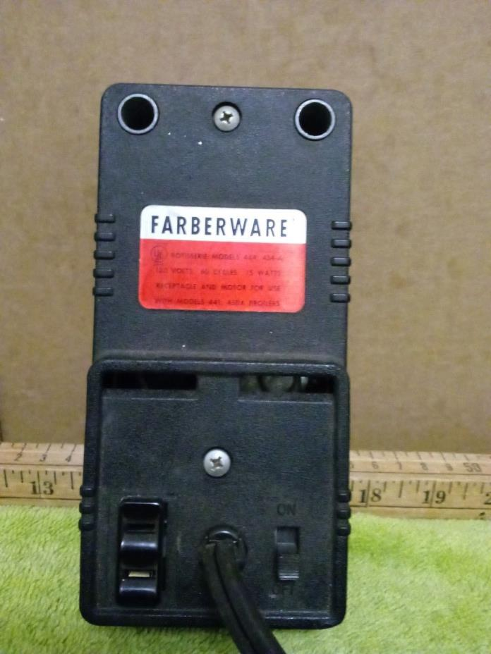 Faberware Receptacle and Motor for Rotisserie 444 454-A Series