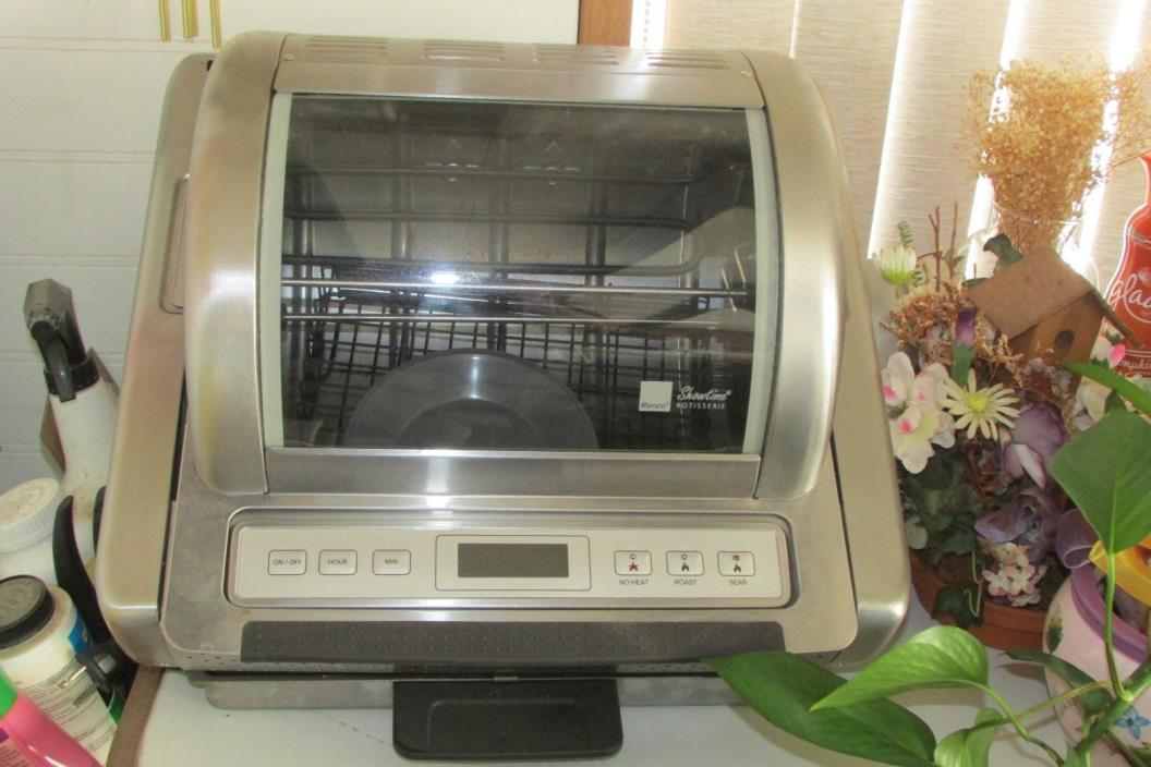 RONCO ROTISSERIE OVEN, EZ-STORE, w/instructions & recipes, oven gloves