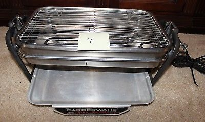 Farberware 455N Rotisserie Grill Open Hearth Broiler Smokeless Indoor GOOD SHAPE