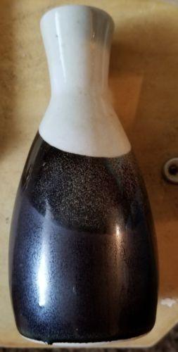 Vintage Takahashi Art Potrery Vase Brown White 5 Inches
