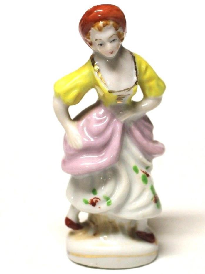 RARE Vintage Japan Ceramic Statuette Dancer #1323