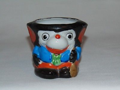 VINTAGE RARE WALT DISNEY MICKEY MOUSE CERAMIC CHILDS TOY TUMBLER CUP JAPAN 1930s