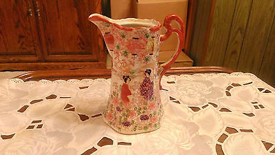 Vintage Red,Green,White & Purple Vase/Pitcher - Made in Japan