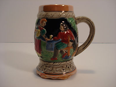 Beer Stein Handpainted ESD Japan